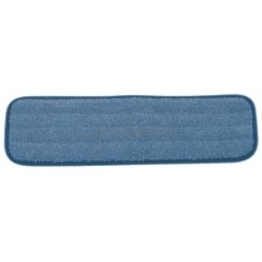 "Rubbermaid FGQ410-86 18"" Microfiber Wet Room Pad - Blue in Color"