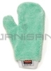 "Rubbermaid Q652 HYGEN Microfiber Dusting Mitt with Thumb - 11.9"" L x 9.9"" W - Green in Color"