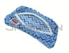 "Rubbermaid Q891 HYGEN Microfiber Flexi Frame Damp Mop Refill - 8.3"" L x 8.3"" W x 0.3"" H - Blue in Color"