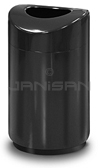 "Rubbermaid / United Receptacle R2030EBK Designer Line Eclipse Trash Can - 30 Gallon Capacity - 20"" Dia. x 35.5"" H - Black"