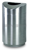 "Rubbermaid / United Receptacle R2030SSS Designer Line Eclipse Trash Can - 30 Gallon Capacity - 20"" Dia. x 35.5"" H - Stainless Steel"
