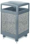 "Rubbermaid / United Receptacle R48HT Aspen Series Trash Can - 48 Gallon Capacity - 26"" Sq. x 40"" H"