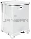"Rubbermaid / United Receptacle ST40E Square Step Can - 40-Gallon Capacity - 19"" Sq. x 30\"" H - Red or White"