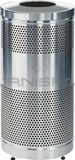 "Rubbermaid / United Receptacle Howard Classic S3SST-SS Stainless Steel Perforated Steel Waste Receptacle - 25 gallon capacity - 18"" Dia. x 35.5"" H"