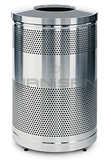 "Rubbermaid / United Receptacle Howard Classic S55SST-SS Stainless Steel Perforated Steel Waste Receptacle - 51 gallon capacity - 25"" Dia. x 35.5"" H"