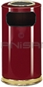 "Rubbermaid / United Receptacle SO16SU-10C European Designer Line Ash / Trash Can - 15 Gallon Capacity - 15"" Dia. x 36"" H - Disposal Opening is 11"" W x 5"" H - Crimson Body with Brass Accents"
