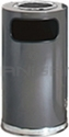 "Rubbermaid / United Receptacle SO16SU-20A European Designer Line Ash / Trash Can - 15 Gallon Capacity - 15"" Dia. x 36"" H - Disposal Opening is 11"" W x 5"" H - Anthracite Body with Chrome Accents"