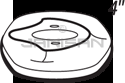 "Technical Concepts TC490322 4"" Replacement Domed Cover Plate for Sienna SST AutoFaucets - Chrome in Color"