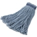 Rubbermaid Universal Headband Blue Blend Cotton Wet Mops with Looped Ends