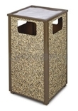 "Rubbermaid / United Receptacle R18SU Aspen Series Ash/Trash Waste Receptacle - 18 Gallon Capacity - 18"" Sq. x 32"" H"