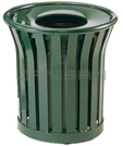 "Rubbermaid MT22 Americana Series Litter Receptacle - 24 Gallon Capacity - 25.5"" Dia. x 25.5"" H - Disposal Opening is 11.5"" Dia."