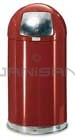 "Rubbermaid / United Receptacle R1530E Econo Line Bullet Trash Can - 12 Gallon Capacity - 15"" Dia. x 30"" H - Disposal Opening is 8"" W x 7"" H"