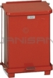 "Rubbermaid / United Receptacle ST7E Square Step Can - 7-Gallon Capacity - 12"" Sq. x 17"" H - Red or White"