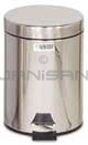 "Rubbermaid / United Receptacle MST15SS Medi-Can 1.5 Gallon Step Can - 11.5"" H x 8"" Dia. - Stainless Steel"