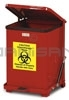 Rubbermaid / United Receptacle QST7E 7 Gallon Square Silent Defender, Quiet Close Step Can, Red or White