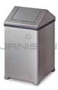 "Rubbermaid / United Receptacle T1414SS Small WasteMaster Garbage Can - 14 Gallon Capacity - 14"" Sq. x 26"" H - Stainless Steel"