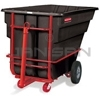 "Rubbermaid 1026-41 Towable Trainable Tilt Truck, Heavy-Duty (Rotational Molded) - 80.5"" L x 43"" W x 49.5"" H -  1 1/2 cu yd - 2100 lb capacity"