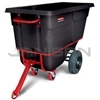 "Rubbermaid 1316-41 Towable Trainable Tilt Truck, Heavy-Duty (Rotational Molded) - 72.25"" L x 33.5"" W x 43.75"" H - 1 cu yd - 2100 lb capacity"