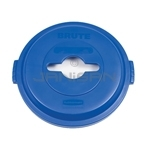 Rubbermaid 1788380 BRUTE Single Stream Recycling Top for 32 Gallon Brute Containers - Blue in Color