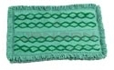 "Rubbermaid 1791792 Double-Sided Microfiber Dust Mop Pad with Fringe - 19.5"" L x 14"" W x 1"" H - Green in Color"