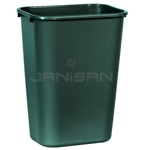 "Rubbermaid 1829406 Wastebasket - 41 1/4 Quart Capacity - 15 1/4"" L x 11"" W x 19 7/8"" H - Green in Color"