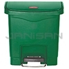 Rubbermaid 1883581 Slim Jim Plastic Front Step-On Receptacle - 4 Gallon Capacity - Green in Color