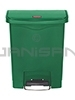 Rubbermaid 1883582 Slim Jim Plastic Front Step-On Receptacle - 8 Gallon Capacity - Green in Color
