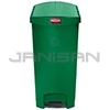 Rubbermaid 1883585 Slim Jim Plastic End Step-On Receptacle - 13 Gallon Capacity - Green in Color