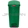 Rubbermaid 1883587 Slim Jim Plastic End Step-On Receptacle - 18 Gallon Capacity - Green in Color