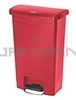 Rubbermaid 1883566 Slim Jim Plastic Front Step-On Receptacle - 13 Gallon Capacity - Red in Color