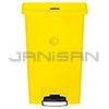 Rubbermaid 1883575 Slim Jim Plastic Front Step-On Receptacle - 13 Gallon Capacity - Yellow in Color