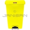 Rubbermaid 1883577 Slim Jim Plastic Front Step-On Receptacle - 18 Gallon Capacity - Yellow in Color