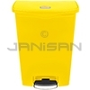 Rubbermaid 1883579 Slim Jim Plastic Front Step-On Receptacle - 24 Gallon Capacity - Yellow in Color