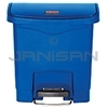 Rubbermaid 1883590 Slim Jim Plastic Front Step-On Receptacle - 4 Gallon Capacity - Blue in Color