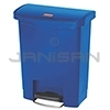 Rubbermaid 1883591 Slim Jim Plastic Front Step-On Receptacle - 8 Gallon Capacity - Blue in Color
