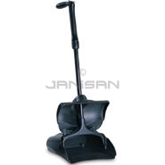 "Rubbermaid 2533 Lobby Pro® Deluxe Upright Dust Pan with Cover and Adjustable Grip Handle - 12.75"" L x 11.25\"" W x 5\"" H"