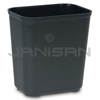Rubbermaid FG254300BLA Fire Resistant Wastebasket - Large - 28 U.S. Quart Capacity - Black in Color