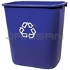 "Rubbermaid 2956-73 Deskside Recycling Container, Medium with Universal Recycle Symbol - 28 1/8 Quart Capacity - 14.38"" L x 10.25"" W x 15"" H"