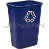 "Rubbermaid 2957-73 Deskside Recycling Container, Large with Universal Recycle Symbol - 41 1/4 Quart Capacity - 15.25"" L x 11"" W x 19.88"" H"