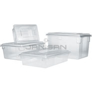 "Rubbermaid 3328 Food Tote Box - 26"" L x 18\"" W x 12\"" D - 16 5/8 Gallon Capacity - Clear in Color"