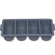 "Rubbermaid 3362 Cutlery Bin, 4 Compartments - 21.25"" L x 11.5\"" W x 3.75\"" H"