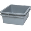 "Rubbermaid 3351 Undivided Bus/Utility Box - 21.5"" L x 17.13"" W x 7"" H - 7 1/8 gallon capacity - Gray in Color"