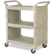 "Rubbermaid 3355-88 Utility Cart with Enclosed End Panels - 31"" L x 18\"" W x 37.5\"" H - 300 lb capacity"