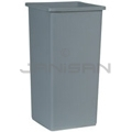 "Rubbermaid 3569 Square Container - 23 US Gallon Capacity - 14 5/8"" Sq. x 28 1/4"" H - Gray in Color"