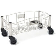 Rubbermaid 3553 Slim Jim® Stainless Steel Dolly for Slim Jim® Containers
