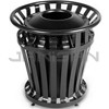 "Rubbermaid 4020 WeatherGard® Series Container with 20 U.S. gal BRUTE® Container Rigid Liner - 27.25"" Dia. x 27.5"" H - Black"