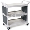 "Rubbermaid 4092 Utility Cart with Enclosed End Panels on 2 Sides - 40.63"" L x 20"" W x 37.81"" H - 300 lb capacity"