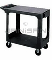 "Rubbermaid 4525 Flat Shelf Utility Cart - 43 7/8"" L x 25 5/8"" W x 33 5/16"" H - 500 lb capacity - Black in Color"