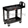 "Rubbermaid 4500-88 2 Shelf Utility Cart - 39"" L x 17.88"" W x 33.25"" H - 500 lb capacity - Black in Color"