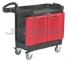 "Rubbermaid 4512-88 TradeMaster® Cart with 2 Door Cabinet, Small - 41.63"" L x 18.25"" W x 38.38"" H - 500 lb capacity"